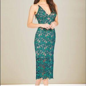 Dress the Population Green Lace Aurora Dress